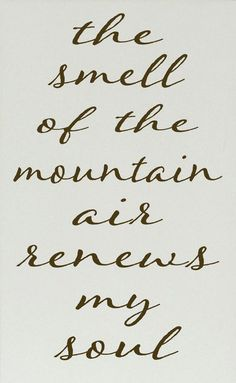 Cream & Brown 'The Smell of the Mountain Air' Wall Sign