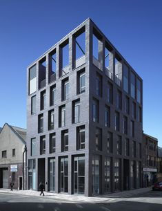 Elder & Cannon Architects, Glasgow City Mission, interesting tall windows at ground floor and nice staggered windows. Attractive top floor openings too! Post Modern Architecture, Brick Architecture, Residential Architecture, Architecture Details, Architecture Colleges, Enterprise Architecture, Architecture Sketches, Architecture Portfolio, Landscape Architecture