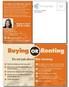 """Buy vs. Rent"" Postcard"