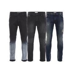 Shine-Original-Herren-Jeans-Slim-Fit-Stretch-Schwarz-Grau-Blau-Jogg-Denim-Neu