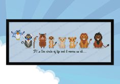The Lion King parody Cross stitch PDF pattern