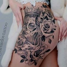 Thigh tattoo