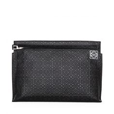 Loewe zipped clutch Large Pouch Black [Loewe Pouch 14] - $283.00 :