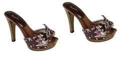 FREE SHIPPING-NEW-Women's Lara Knotted Brown Slippers Shoes. SZ 7.5