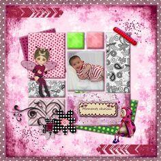 Bribri62-Scrap: Ma page avec le Kit Lady cox aime l'été de Perline Design