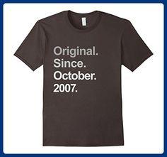 Mens Original Since October 2007 Shirt 10th Birthday Gifts TShirt Medium Asphalt - Birthday shirts (*Amazon Partner-Link)