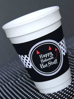 Free Printable #Halloween Cup Sleeves. A Fun Party Idea by Amy Locurto at LivingLocurto.com