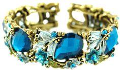 Vintage inspired blue coloured stone bracelet