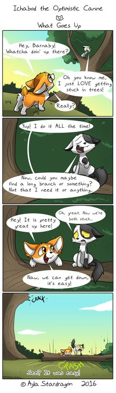 Ichabod the Optimistic Canine :: What Goes Up   Tapastic Comics - image 1