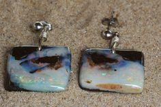 Hand Made Genuine Australian Opal Jewellery. Boho Jewelry, Jewelry Design, Jewellery, Opal Earrings, Drop Earrings, Australian Opal Jewelry, Free Shapes, Bouldering, Minimalist Design