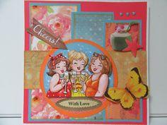 challenge Sketch bij Cheerful Sketches/Sylvia H. Hessa, Big Guys, 3d Cards, S Girls, Diana, Cheer, Bubbles, Doodles, Challenges