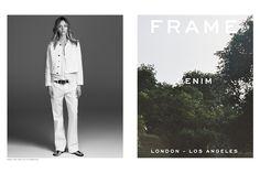 Frame Denim's Spring Ad Campaign Starring Sasha Pivovarova - Slideshow