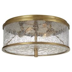Hey Look What I found at Lighting New York Visual Comfort Kelly Wearstler Liaison 2 Light 12 inch Antique-Burnished Brass Flush Mount Ceiling Light, Medium Flush Ceiling Lights, Flush Mount Lighting, Flush Mount Ceiling, Ceiling Fixtures, Light Fixtures, Ceiling Lighting, Visual Comfort, Detroit, Crackle Glass