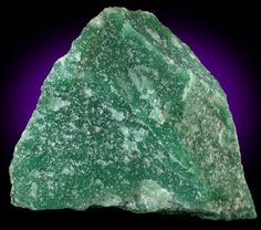 Aventurine, a form of chalcedony. Chalcedony is not scientifically its own mineral species, but rather a form of Quartz in microcrystalline form. Minerals And Gemstones, Crystals Minerals, Rocks And Minerals, Stones And Crystals, Mineralogy, Green Aventurine, Green Stone, Amethyst, Quartz