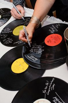 If you love vinyl, this is a great way to give your collection a sentimental element. Weddings by Mary-Theresa