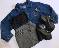Image in Moda collection by Tamara on We Heart It Teen Fashion Outfits, Edgy Outfits, Korean Outfits, Grunge Outfits, Night Outfits, Pretty Outfits, Fall Outfits, Cute Outfits, Mode Rock