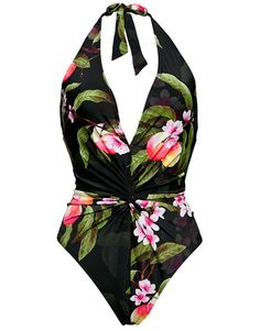 Buy Ted Baker Cherry Blossom Twist Front Swimsuit at Figleaves