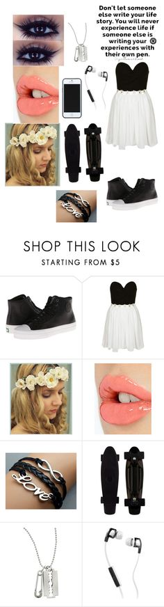 """Untitled #5"" by faygoman ❤ liked on Polyvore featuring PF Flyers, Rare London, Charlotte Tilbury, McQ by Alexander McQueen, Kate Spade Saturday and Skullcandy"