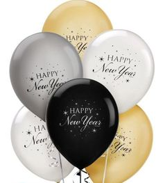 Happy New Year's balloons Happy New Year Quotes, Happy New Year 2016, Happy New Year Wishes, Happy New Year Greetings, Quotes About New Year, New Year 2018, Merry Christmas And Happy New Year, New Years Party, New Years Eve