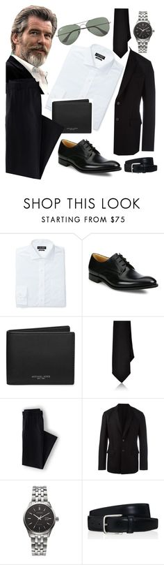 """""""Movember! (2016)"""" by annacastrolima ❤ liked on Polyvore featuring Lauren Ralph Lauren, Church's, Michael Kors, Barneys New York, Lands' End, Givenchy, Citizen, Tod's, Ray-Ban and men's fashion"""