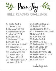 Pure Joy - Bible Reading Challenge