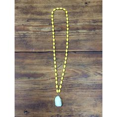 How beautiful is this $40 Paper Bead Necklace with a druzy? Necklaces can also come in green, maroon & white, or wooden beads! To order one, leave your email & the necklace you would like! #jobcreation
