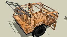 CAD Render of Frame Made in Sketchup