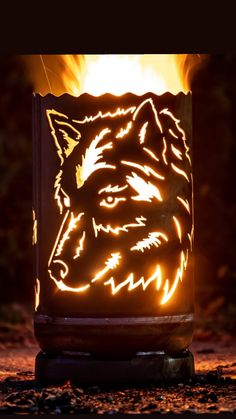 Custom Fire Pit, Rv Camping, Pumpkin Carving, Table Lamp, Diy, Decor, Stoves, Sagittarius Star Sign, Wolfhound