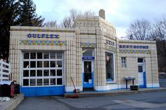 Unexpected Architectural Design - Art Deco Gas Station - Bedford, PA