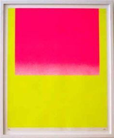 Geiger_Rupprecht_WVG_92_2.jpg (21855 Byte) Rotes Feld auf gelb/leuchtrot kalt auf leuchtgelb 1967