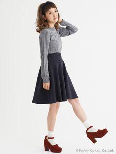 センターギャザースカート / flare skirt on ShopStyle