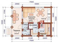 Проект бани-дома (рис. 34)