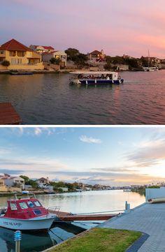 Enjoy a picturesque West Coast sunset in Port Owen, a lovely neighbourhood in the coastal town, Velddrif. West Coast, The Neighbourhood, Whimsical, Coastal, Cruise, Sunset, Sunsets, Cruises, The Neighborhood