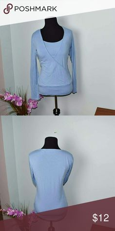 New York & Company Powder Blue Silky Blouse Super Cute and very silky soft! New York & Company Tops Blouses