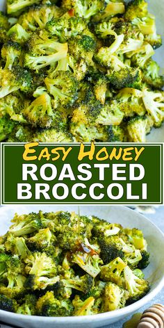 Easy Honey Roasted Broccoli Oven-Roasted Broccoli is a quick and easy side dish recipe that is tossed in a sauce full of honey, garlic, and oil. This healthy roasted broccoli recipe is a quick,. Quick Side Dishes, Low Carb Side Dishes, Healthy Side Dishes, Side Dish Recipes, Broccoli Side Dishes, Vegetarian Side Dishes, Dishes Recipes, Garlic Recipes, Veggie Recipes