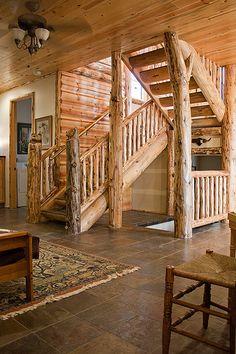 Custom Log Staircase