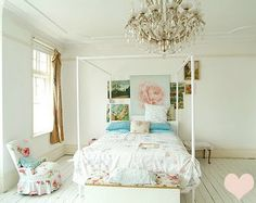 Inspiration for Avari's bedroom - from the bed, to the walls, floors and light fixtures...