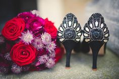 black beaded wedding shoes // photo by Babb Photo // http://ruffledblog.com/ee-cummings-inspired-halloween-shoot
