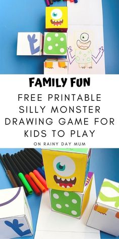 Paper Games For Kids, Drawing Games For Kids, Art Activities For Kids, Activity Ideas, Craft Ideas, Creative Arts And Crafts, Creative Kids, Fun Crafts, Paper Toys Making