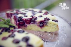 Tvarohový koláč s čučoriedkami | We Lift Together