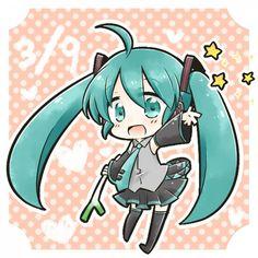 Vocaloid Chibi!Miku. Cute :3 Anime Chibi, Manga Anime, Anime Art, Hatsune Miku Vocaloid, Vocaloid Characters, Mikuo, Best Waifu, Cute Chibi, I Love Anime