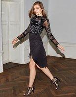 F Frock & Frill High Neck Sequin Dress