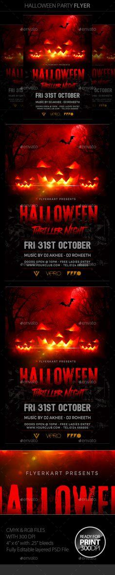 halloween flyer - Halloween Music For Parties