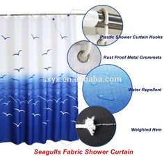 Hotel Shower Curtain, Shower Curtain Hooks, Bathroom Curtains, Fabric Shower Curtains, Printing On Fabric, App, Water, Check, Apps