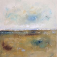 Golden Abstract Landscape Original Painting  Point by lindadonohue, $500.00