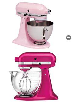 Kitchen Aid Mixers in 'Pink' & 'Raspberry'