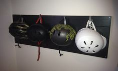 For storing the hundreds of helmets we are accumulating. Put it at the level the kids can reach.