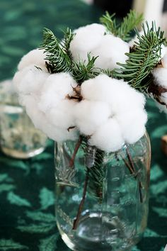 Cotton boll bouquets at a jubilant Sunday brunch | Gathering