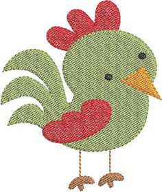 Rooster Mini Embroidery Design