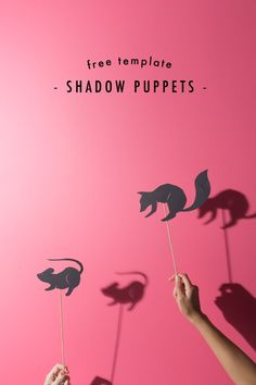 DIY Shadow Puppets' Printables from The House that Lars Built. These are beyond easy to make and you can use them with Hand Shadow Puppets Poster from Etsy posted on Truebluemeandyou here and DIY Shadow Puppets' Tutorial from Handmade Charlotte here. For puppets of all kinds including a puppet theater go here.